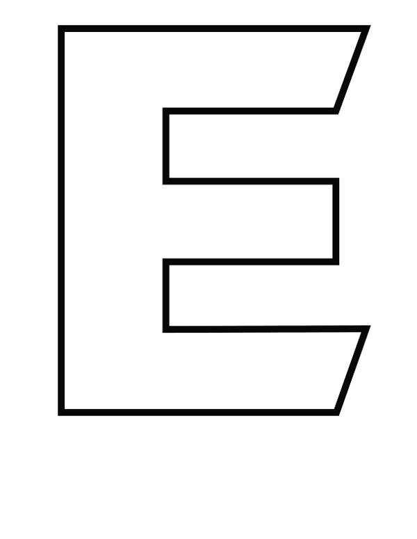 capital letter e coloring page