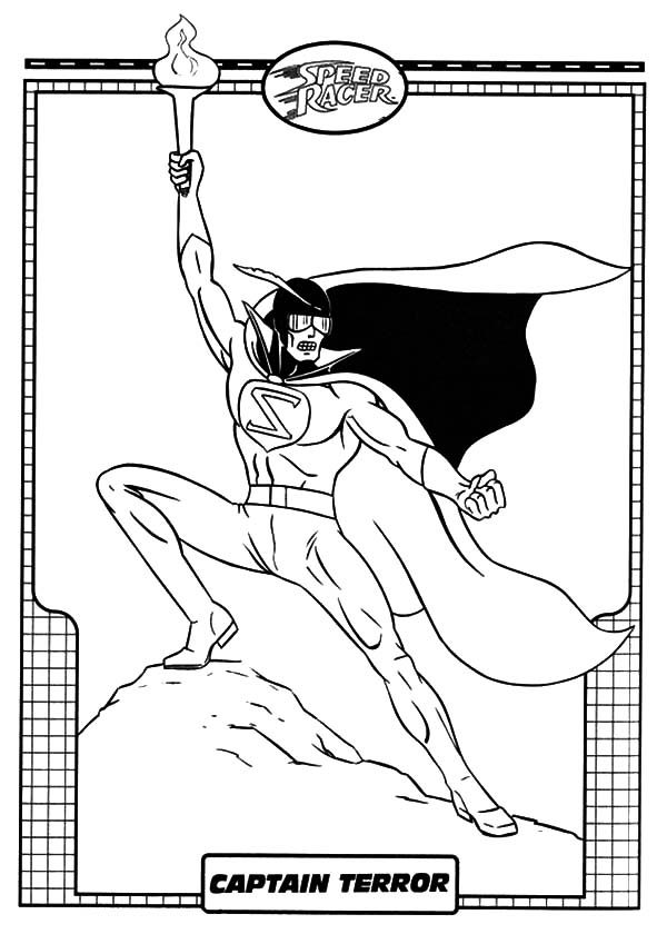 Speed Racer, : Captain Terror Ultimate Weapon in Speed Racer Coloring Pages