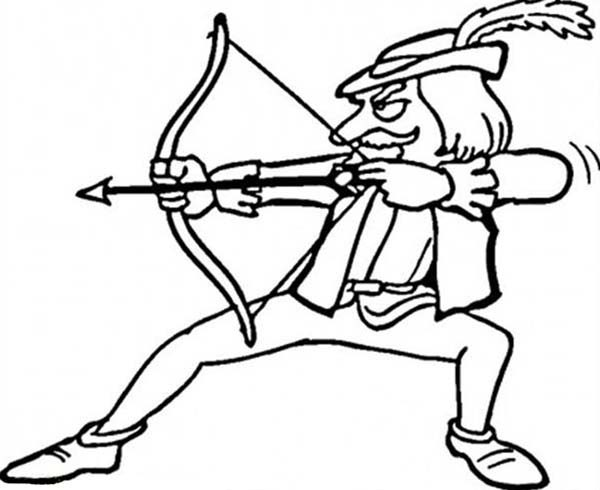 Robin Hood, : Cartoon of Robin Hood Coloring Pages