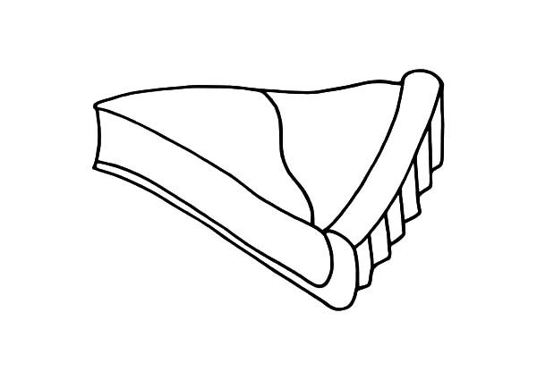 Cake Slice, : Cheese Cake Slice Coloring Pages