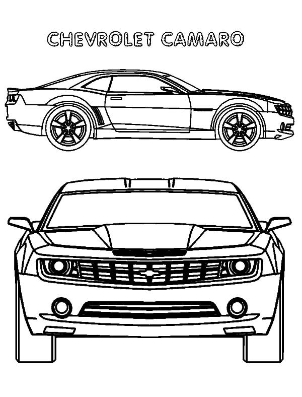 Camaro Cars, : Chevrolet Camaro Cars Coloring Pages