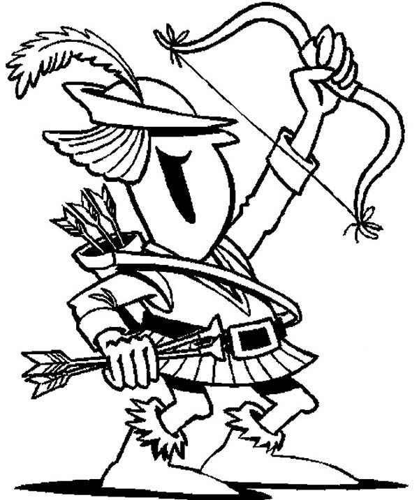 Robin Hood, : Chibi of Robin Hood Coloring Pages