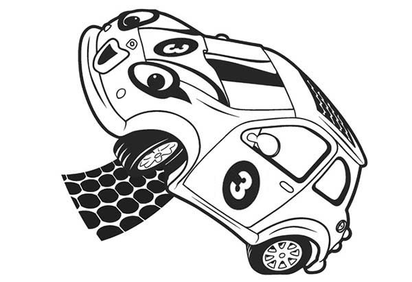 Roary the Racing Car, : Cici aka Zizzy an Electric Car and Solar Car in Roary the Racing Car Coloring Pages