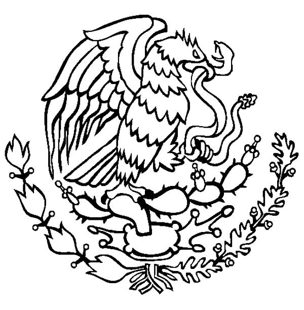 Cinco de Mayo, : Coat of Arms Cinco de Mayo Coloring Pages