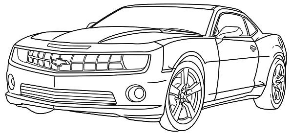 Cool Camaro Cars Coloring Pages