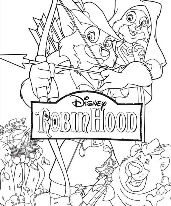 disney robin hood coloring pages - Disney Robin Hood Coloring Pages