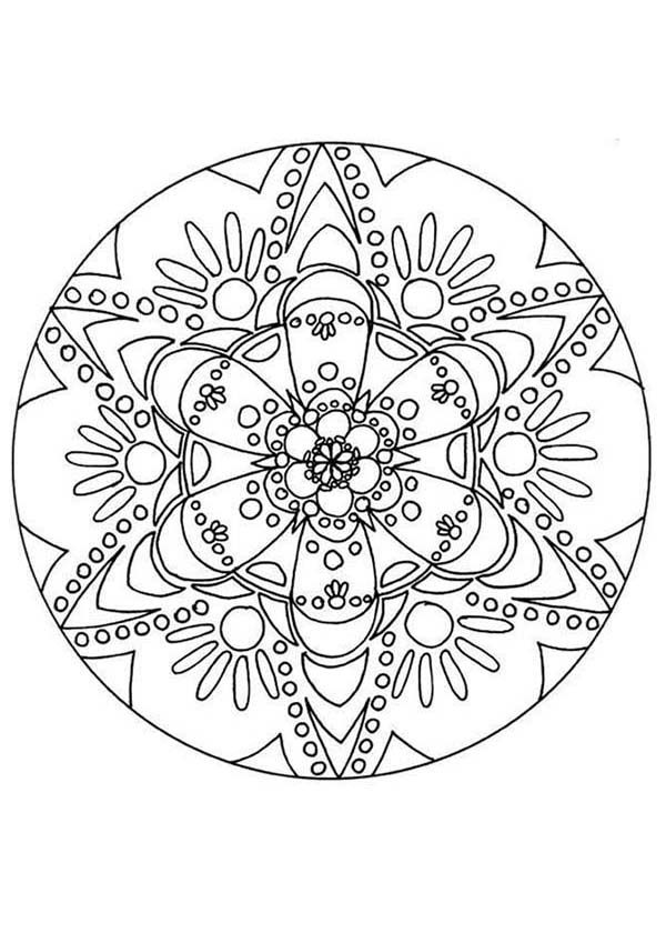 Christmas Mandala, : Drawing Mandala Christmas Coloring Pages