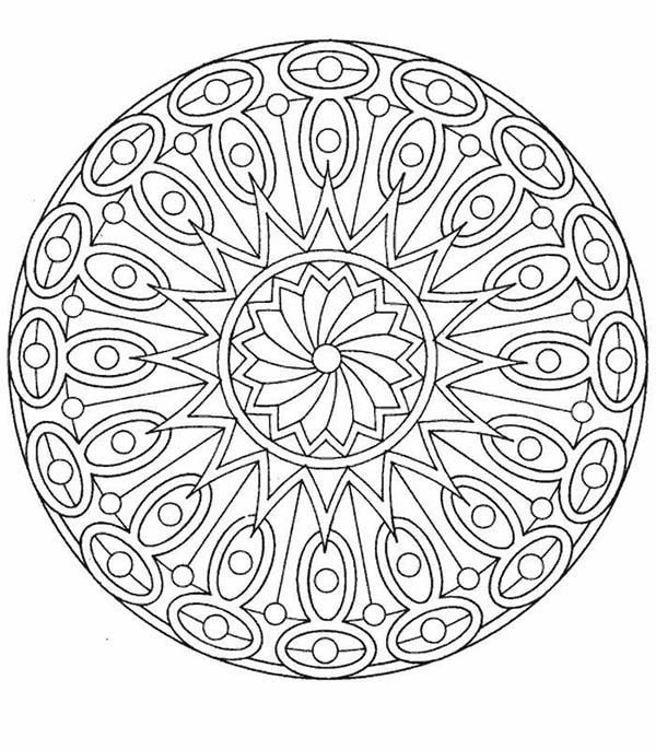 Christmas Mandala, : Drawing Mandala Christmas Picture Coloring Pages