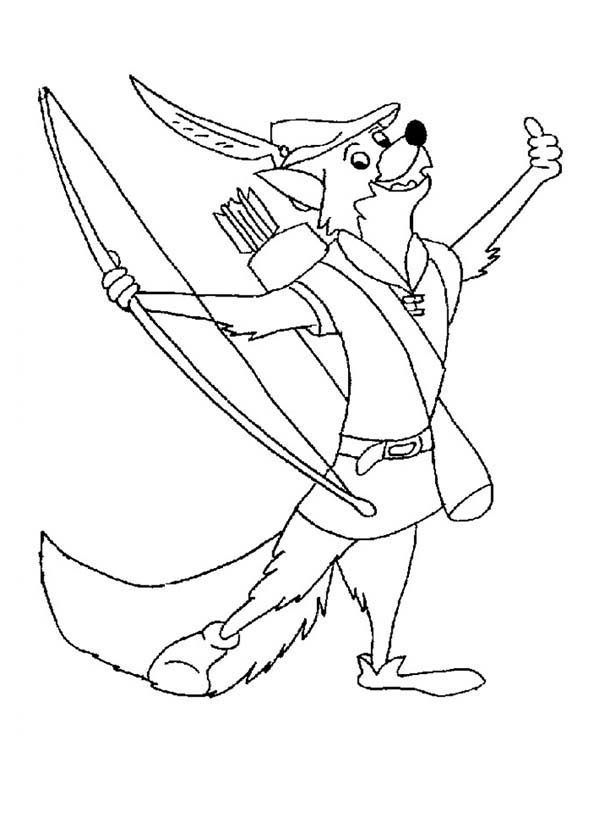 Robin Hood, : Drawing Robin Hood Coloring Pages