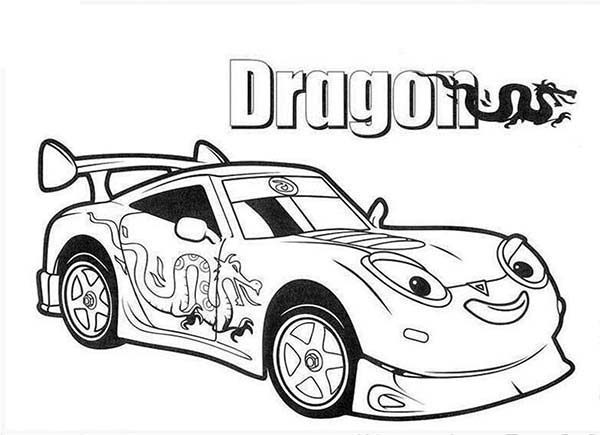 drifter aka dragga the drift racing car in roary the racing car coloring pages
