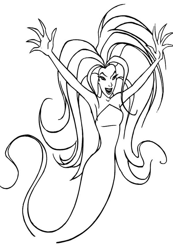 Sinbad the Sailor, : Eris the Goddess of Chaos in Sinbad the Sailor Coloring Pages