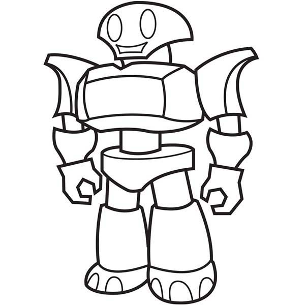 Explorer Robot Coloring Pages | Best Place to Color