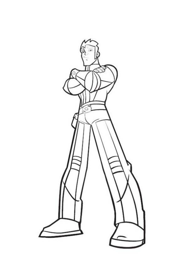 Rox, : Famous Xavier in Rox Coloring Pages
