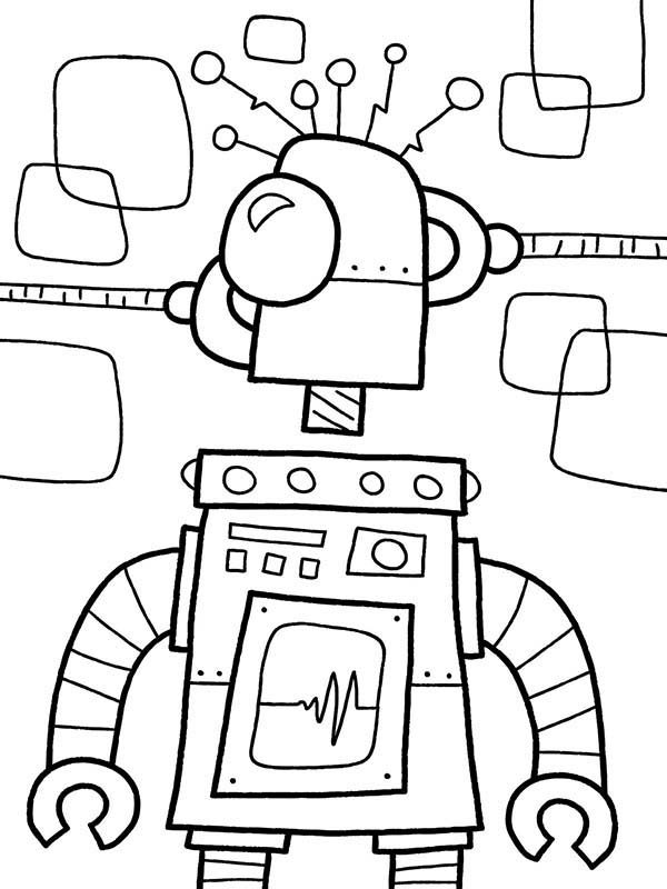 Robots, : Fixing Broken Robot Coloring Pages