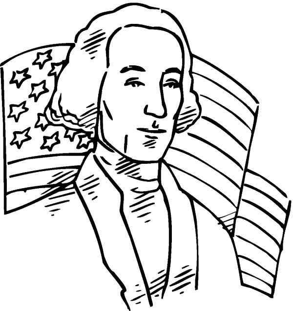 Patriots Day, : George Washington Patriots Day Coloring Pages