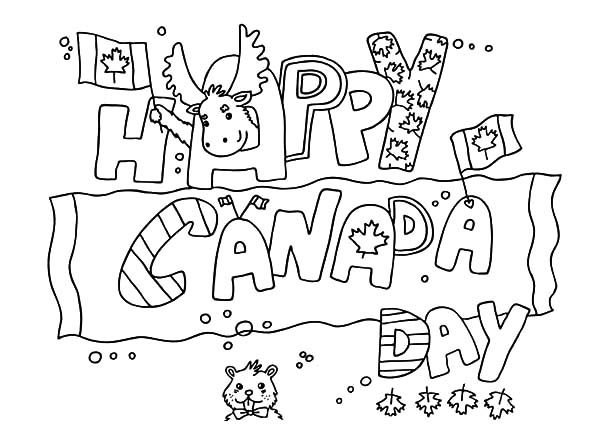 Canada Day, : Gorgeous Banner for 2015 Canada Day Event Coloring Pages
