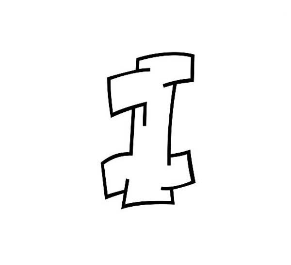 Graffiti letter i coloring page best place to color - L alphabet en graffiti ...