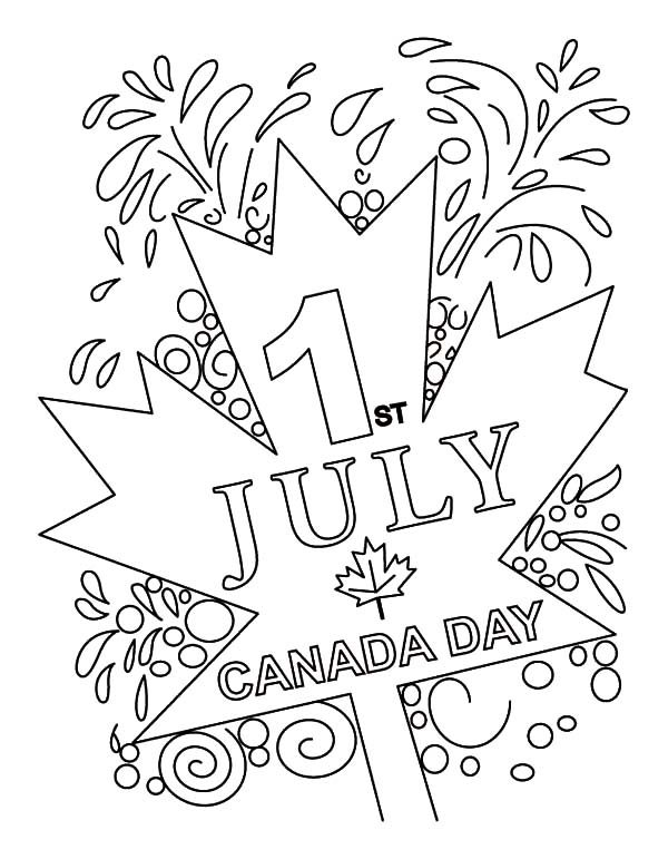 Canada Day, : Happy 2015 Canada Day Event on July 1st Coloring Pages