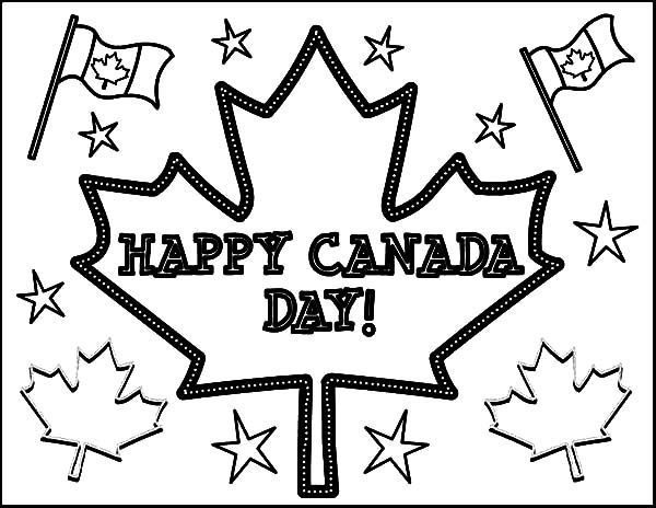 Canada Day, : Happy Celebration on 2015 Canada Day Event Coloring Pages