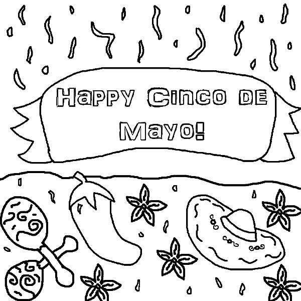 Cinco de Mayo, : Happy Cinco de Mayo Coloring Pages