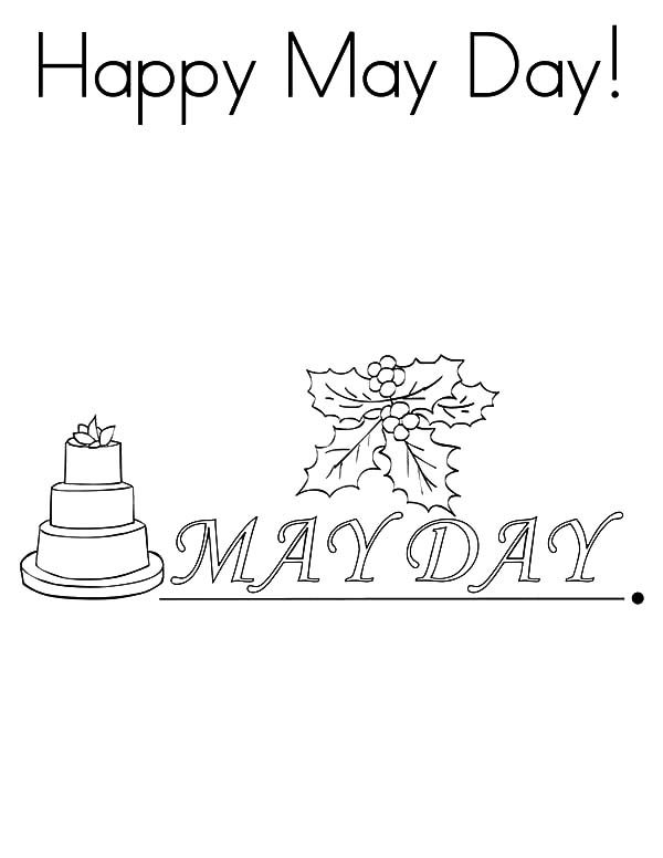 May Day, : Happy May Day Coloring Pages