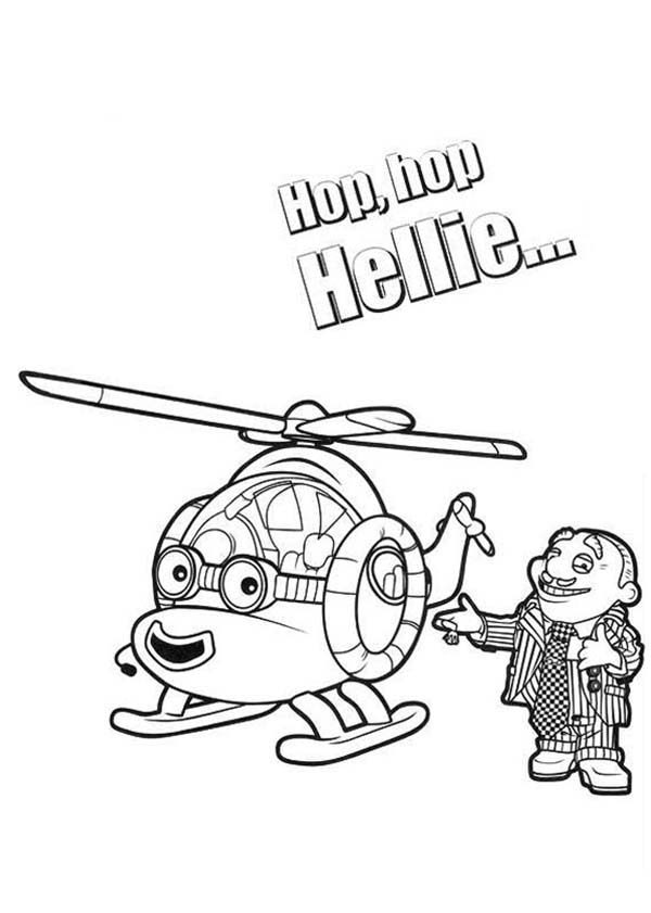 Roary the Racing Car, : Hellie is Go Said Mr Carburettor in Roary the Racing Car Coloring Pages