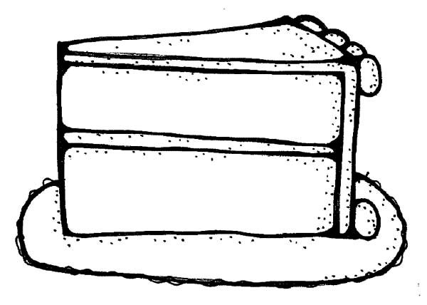 Cake Slice, : How to Draw Cake Slice Coloring Pages