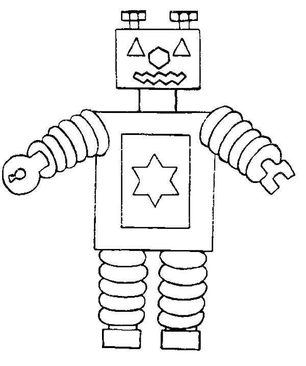 Robots, : How to Draw Robot Coloring Pages