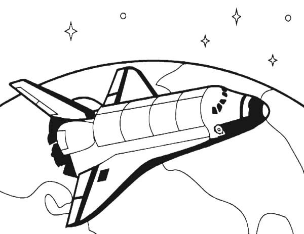 Space Travel, : How to Draw Spacecraft for Space Travel Coloring Pages