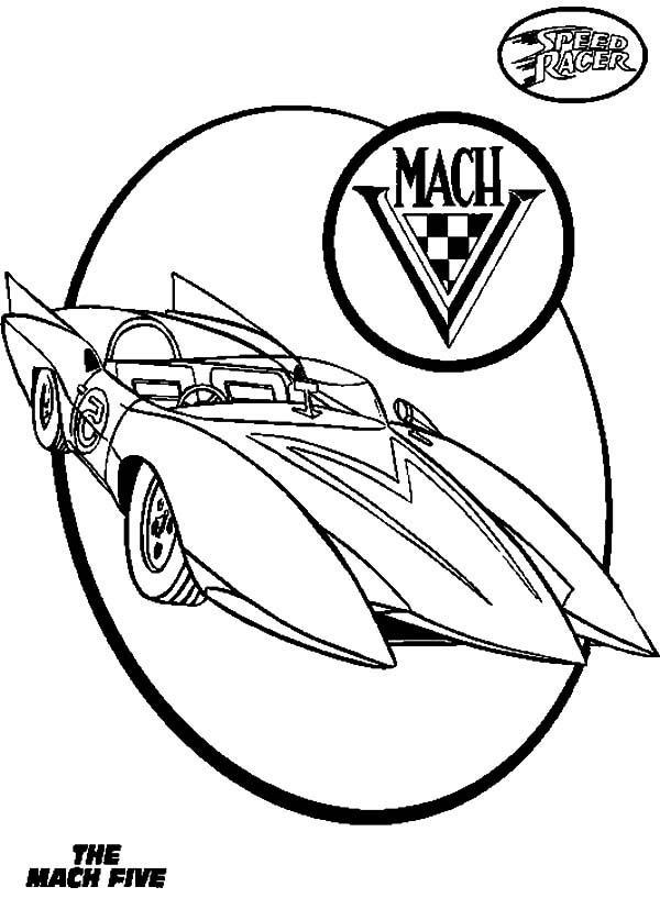 coloring pages speed racer - photo#29