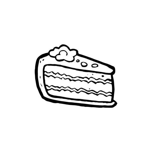 I Want Cake Slice Coloring Pages | Best Place to Color