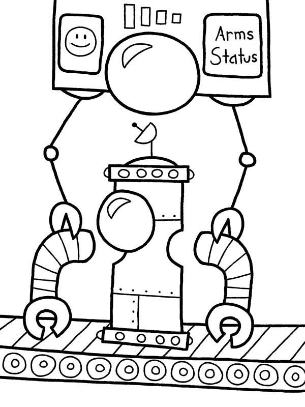 Robots, : Installing Robot Hand Coloring Pages