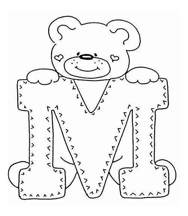 Letter M, : Introducing Letter M Coloring Page