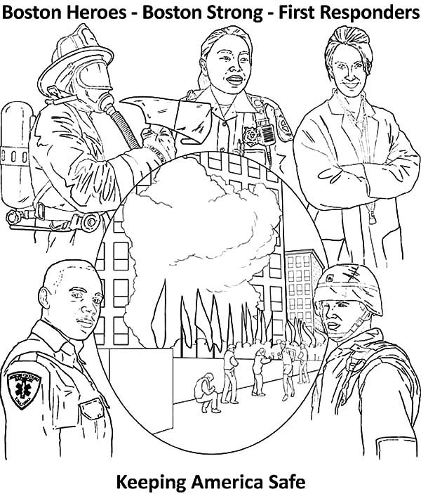 Patriots Day, : Keeping America Safe Patriots Day Coloring Pages 2