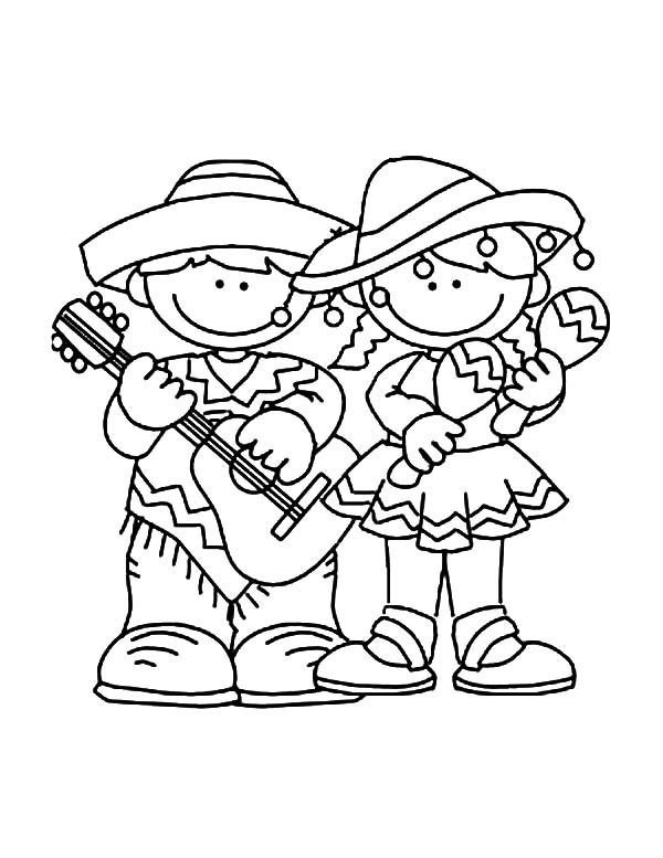 Cinco de Mayo, : Kids Celebrate Cinco de Mayo Coloring Pages
