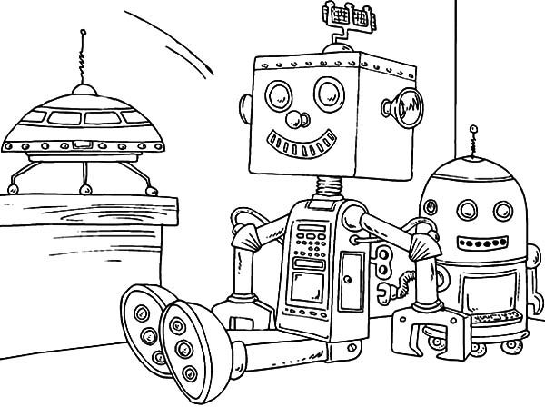Robots, : Kids Toy Robot Coloring Pages