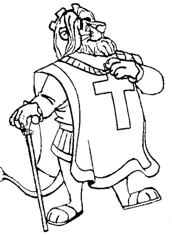 Robin Hood, : King Richard Walking Proudly in Robin Hood Coloring Pages