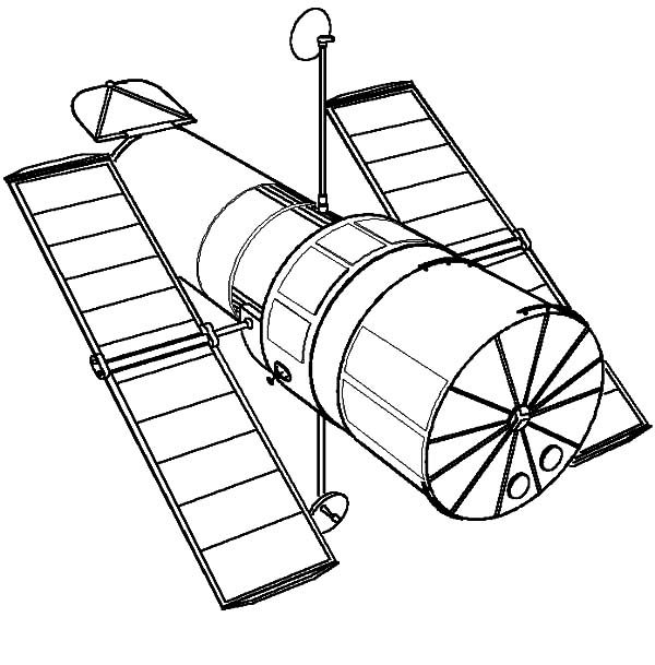 Space Travel, : Launching Satellite Space Travel Coloring Pages
