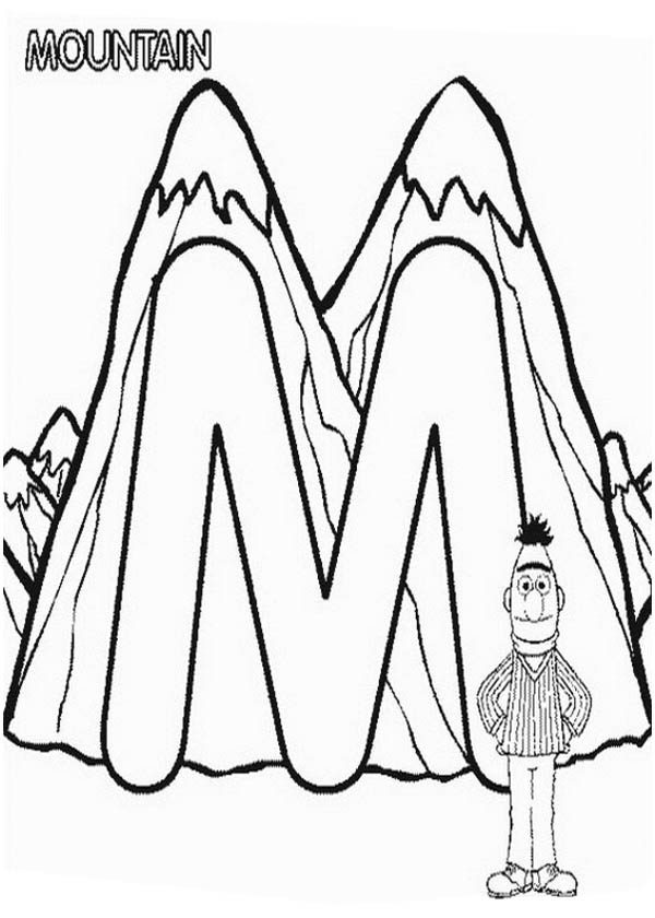 Learn Letter M for Mountain in