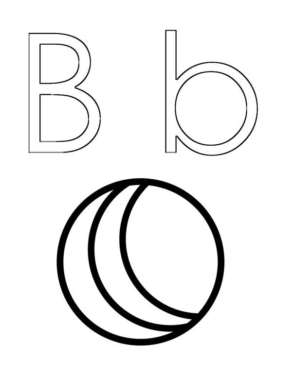Letter B, : Letter B Outline Coloring Page