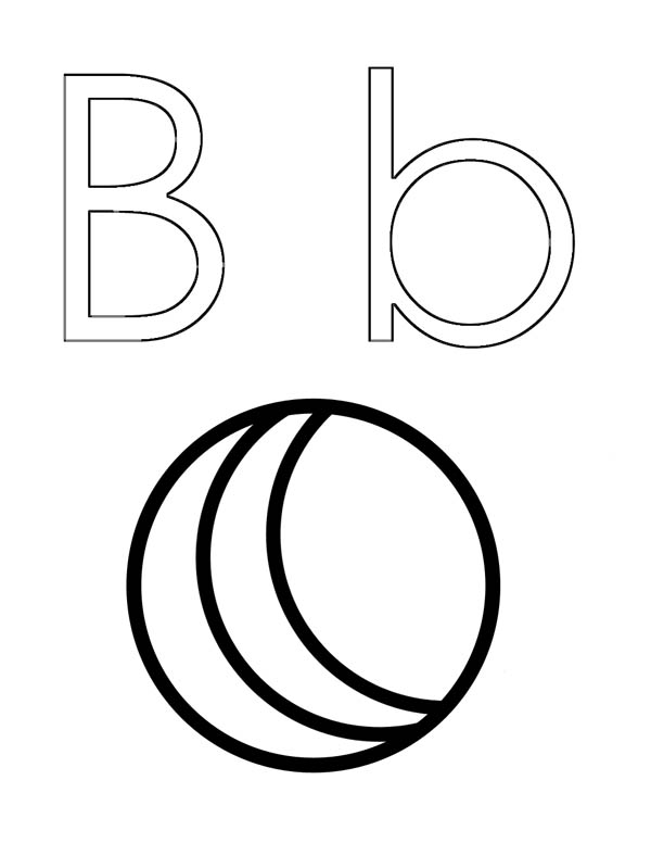 Letter-B-Outline-Coloring-Page Template For Letter Bb on letter b template, letter tt template, letter aa template, letter ss template, letter pp template, block letter i template,