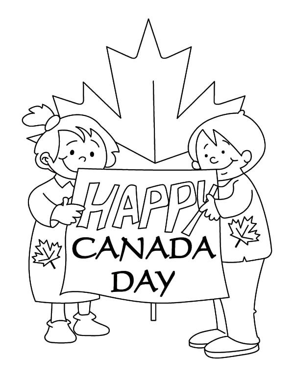 Canada Day, : Lots of Kids Creating Banner for 2015 Canada Day Event Coloring Pages