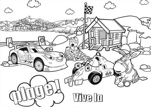 Roary the Racing Car, : Main Characters of Roary the Racing Car Coloring Pages