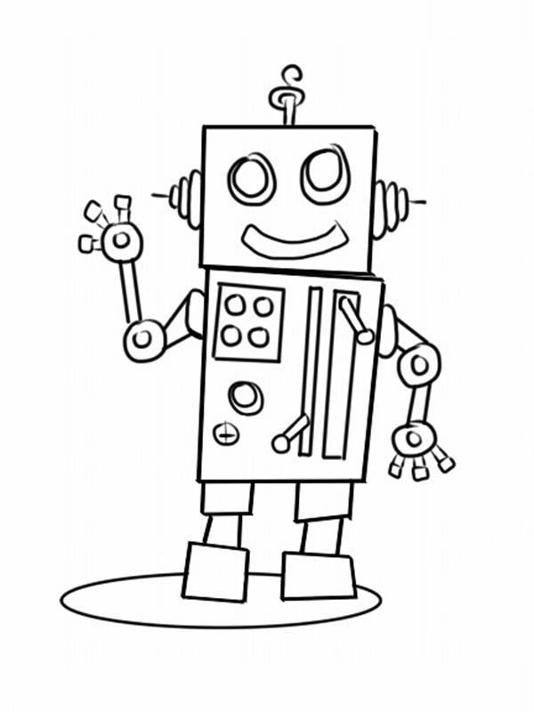 Robots, : Make Your Own Robot Coloring Pages