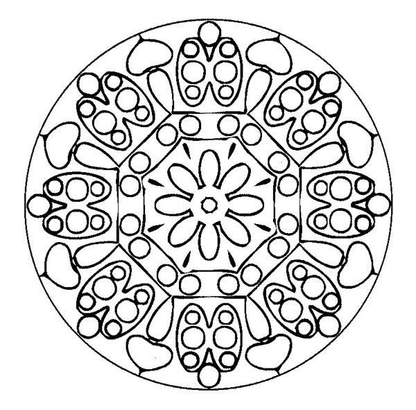 Christmas Mandala, : Mandala Christmas Coloring Pages for Kids