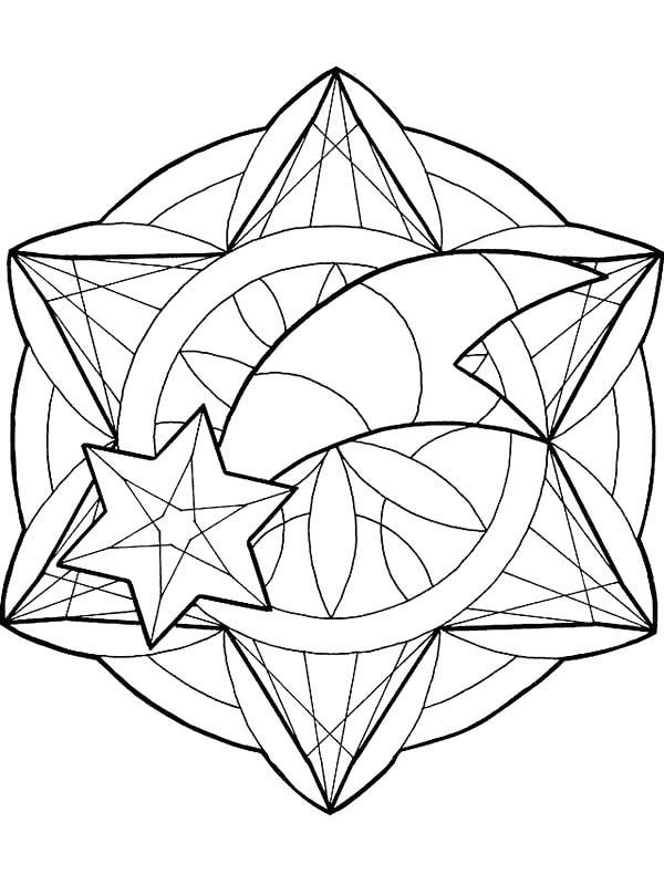 Christmas Mandala, : Mandala Christmas Cornaments Coloring Pages