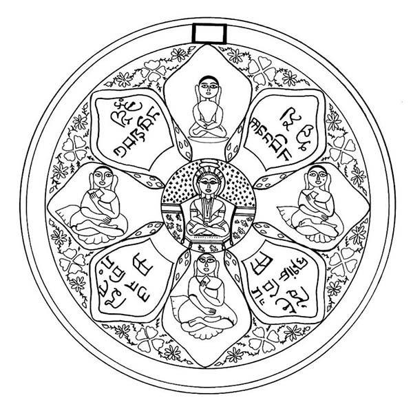 Christmas Mandala, : Mandala Christmas Image Coloring Pages