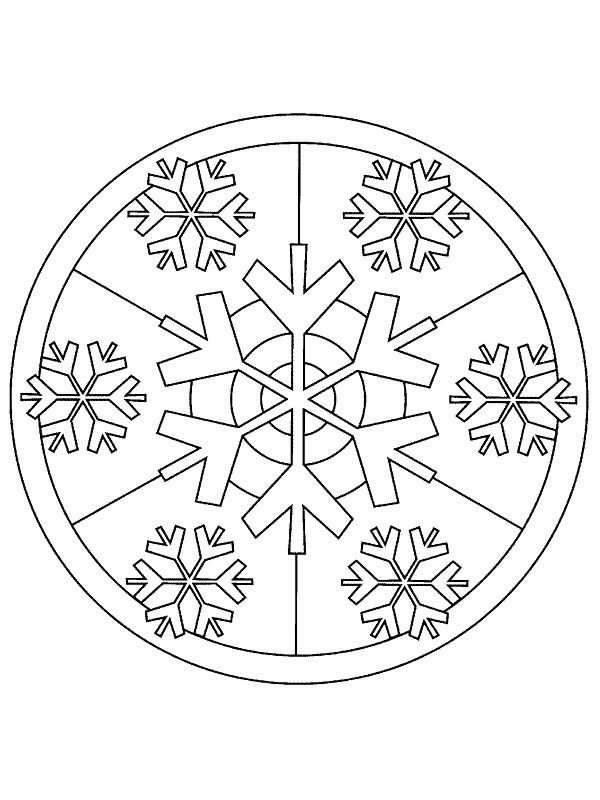 Christmas Mandala, : Mandala Christmas Picture Coloring Pages
