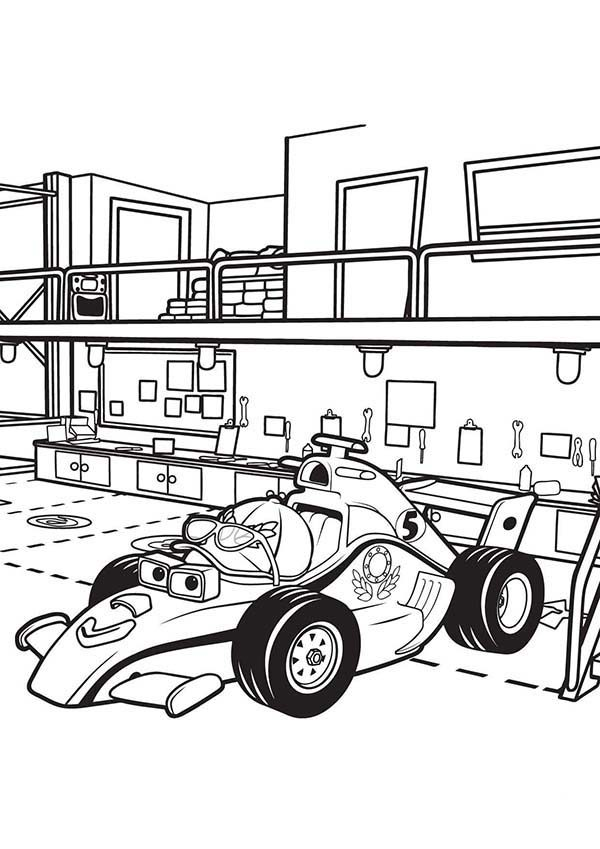 Roary the Racing Car, : Maxi Stay in the Pit in Roary the Racing Car Coloring Pages