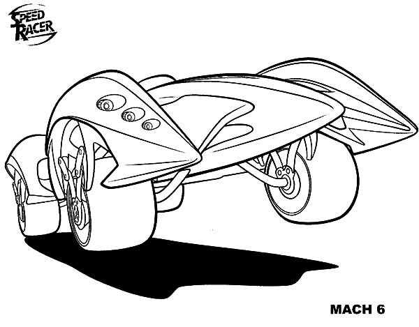Speed Racer, : Maximum Speed in Speed Racer Coloring Pages